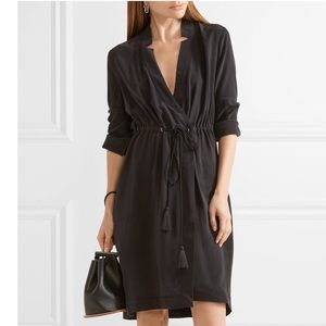 NWT Equipment Stacy L/S Washed Silk Wrap Dress
